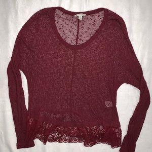 AE | Lace Pom Long Sleeve